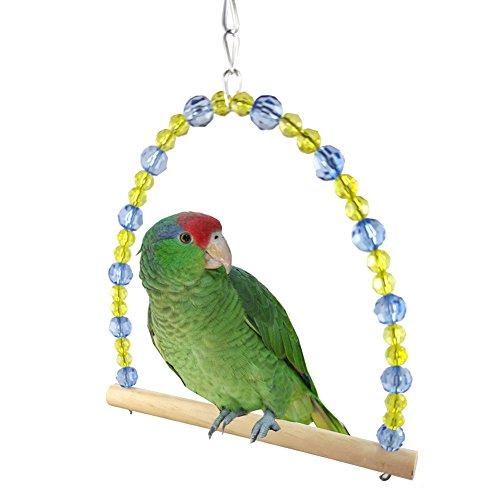 Jiacheng29 Buntes Vogel/Papagei Schaukelspielzeug, Käfigständerrahmen, Nymphensittich/Wellensittich Hängematte
