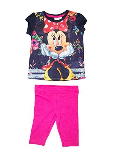 Minnie mouse direction ragazze t-shirt e leggings set età 3,4,6,8anni blues 6 anni