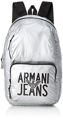 827a2be0f30 Armani Jeans Zaino, Men s Backpack, Silber (Argento), 48x15x29 cm (B
