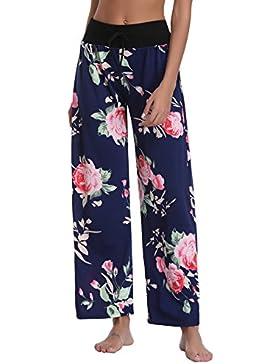 Abollria Pantalones para Mujer, Pantalones de Pierna Ancha