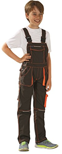 6122 Planam Basalt Junior Latzhose, oliv/orange (170/176)