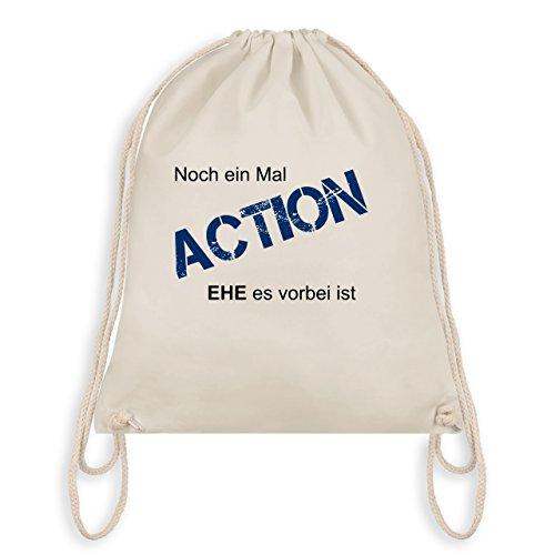 JGA Junggesellenabschied - Noch einmal Action EHE es vorbei ist - Turnbeutel I Gym Bag Naturweiß