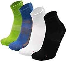 DANISH ENDURANCE Chaussettes de Sport pour Homme et Femme, Lot de 3 ou 5 paires, Respirantes et Anti-Ampoules pour la...