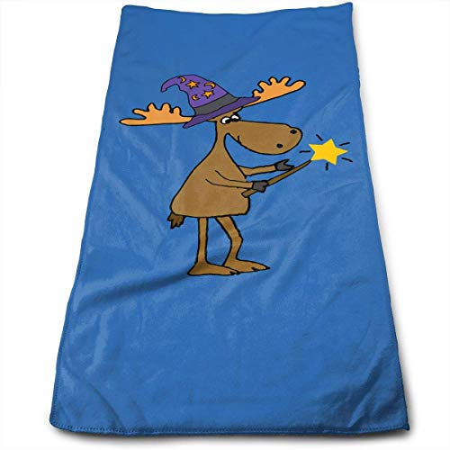 ERCGY Cartoon Moose in Wizard Hat Halloween Cleaning Cloths
