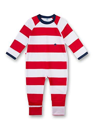 Sanetta Baby-Jungen Strampler Overall, Rot (Rouge 3480) 86 (Herstellergröße: 086)