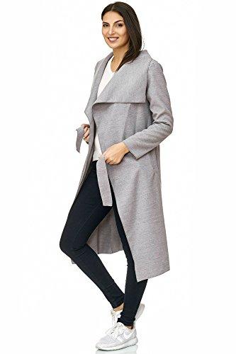 Elara Damen Jacke | Mantel mit Gürtel | Trenchcoat | Chunkyrayan 6205-lt.Depressing 38/M