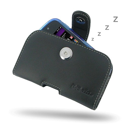PDAir BlackBerry Q10 Echtes Leder Case mit Gürtelclip (Fit Phone mit Einem dünnen Fall oder dünne Haut auf) Ledertasche, Handarbeit Horizontal (Blackberry Otterbox Q10)