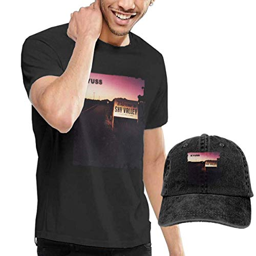 CINDYO Hemden Kyuss Welcome to Sky Valley T-Shirts Mens Tee T-Shirts Vintage Jeans Baseball Cap Hat -