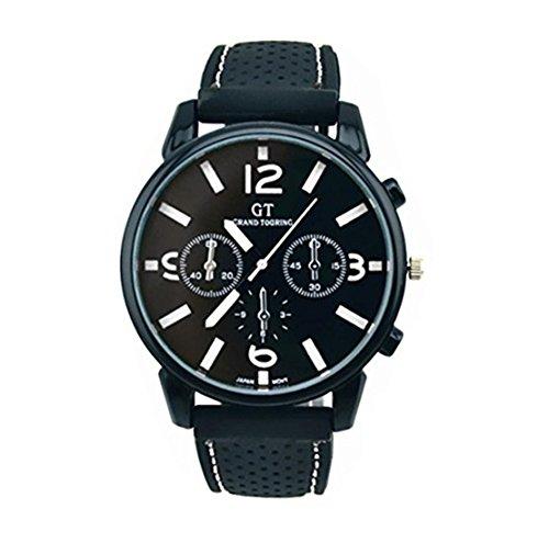 ❤️Montres Homme, Amlaiworld Mode Montre-bracelet en acier inoxydable Sport cool quartz heures montre Montre-bracelet analogique❤️ (1, B)