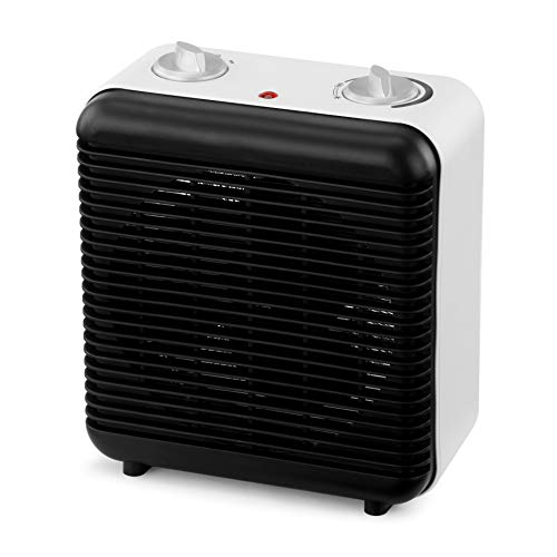 41qT%2BzfcjaL. SS500  - NETTA Fan Heater Electric Upright 2000W Portable Mini Heater With Two Heat Settings,Thermostat and Safety Cut-Off, and Cool Air Fan for Home, Office Use - Black