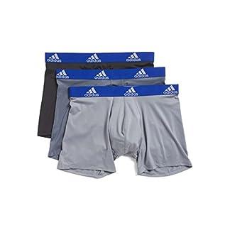 adidas Mens 3 Pack Climalite Performance Boxer Briefs (X-Large, Onix/Black/Grey)