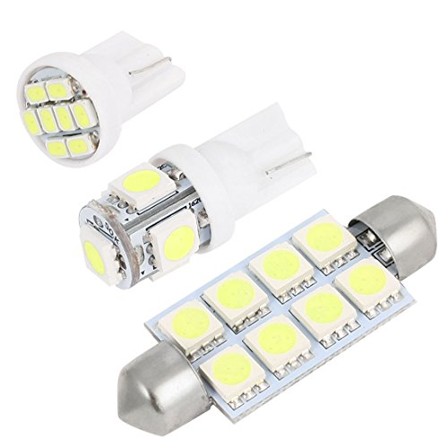 sourcingmap 12x LED Blanc Lampe Paquet Kit pour 2000-2006 Tahoe