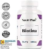 Biotina 10000mcg. Vitaminas de Biotina pura para fortalecer y...