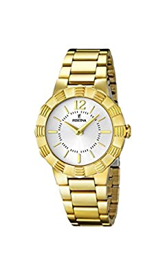 University Sports Press F16732/1 - Reloj de cuarzo para mujer, con correa de acero inoxidable chapado, color dorado de University Sports Press