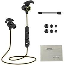 Rcool Auriculares Bluetooth 4.1 Cascos Inalámbrico Deportivos In-Ear Estéreo y Anti-sudor Con