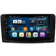 likecar 9pulgadas 1,6GHz 8G ROM 1024* 600Quad Core Android 4,4Auto GPS Navegación DVD estéreo radio de coche para Mercedes Benz GL ml Clase W164ML300ML320ML350ML450ML500con HD pantalla táctil Volante Control Navegación 1080P Bluetooth USB RDS Dual Zona Alemán Menu OBD Espejo Link 3G WiFi