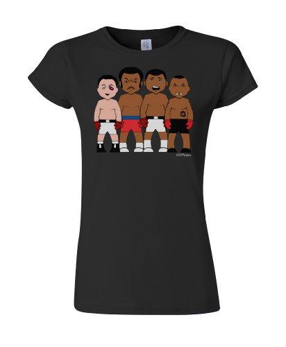 VIPwees Boxing legends ladies cult sport t shirt unique retro gift