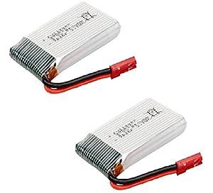 YUNIQUE UK ® 2 Pieces 3.7V 850mAh Battery Li-Po for Syma X56W X56 RC quadcopter drone spare parts