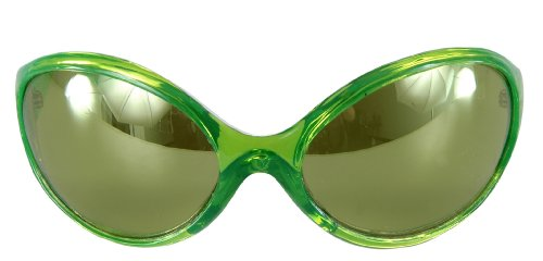 Alien Brille grün (Alien Marsmensch Kostüm)
