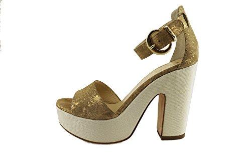 LIU JO 38 EU sandali donna oro camoscio AH775