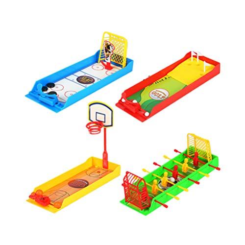 Toyvian 4Pcs Finger Sport Spielzeug Desktop Finger Fußball Basketball Eishockey Golf Spielzeug für Kinder