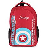 Diwali Gifts Smart Red Laptop Backpack College Casual Office Backpack Daypack 22 Liters Bag Captain America Design