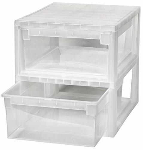 2 Stück Schubladenboxen mit Nutzvolumen 12 Liter pro Box. Passend für z.B. Socken, Shirts, Papier, etc. Maße pro Box: 29,6 x 39 x 16 cm Papier-organizer-box