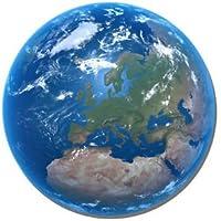 Planet Earth redondo alfombrilla de ratón. Tierra desde el espacio alfombrilla de ratón