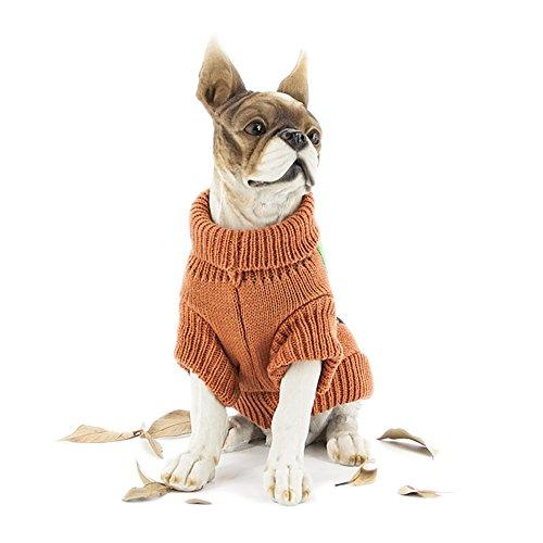 dung Halloween Kleid stricken süße Kürbis Strickpullover pet Kleidung, XL ()