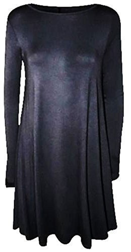 FASHION FAIRIES LTD - Tunique Trapèze Femme Robe Manche Longue Motif Aspect humide