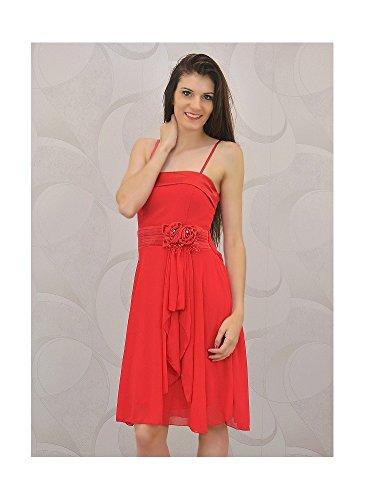 Robe de Cocktail Plis Rouge Rouge