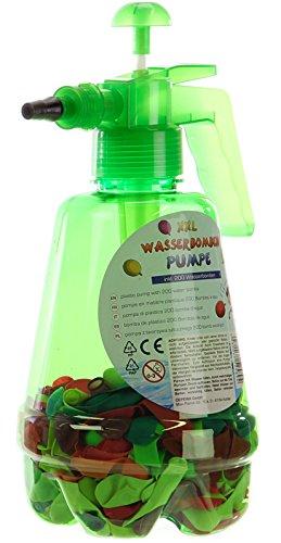 200 Wasserbomben mit Wasserpumpe zum direkten Befüllen Farbe: grün