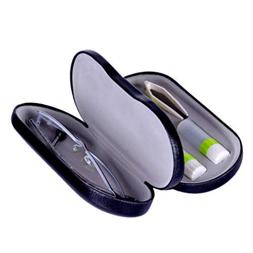HEALIFTY 2-in-1 Brillenglas-Etui Box Tragbare Kurzsichtige Objektiv-Box für Reisen (Schwarz)