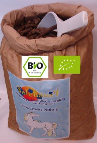 AKTION Winter: BIO Leinsamen-Pellets frisch gepresst 10 kg / Ölmühle Omega / Futterersatz / Futterzusatz / Pferde / Rinder
