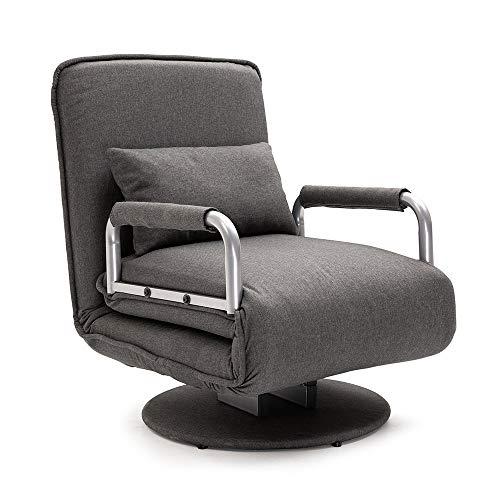 Mingone gartensessel lesesessel bettsofa schlafsessel relaxsessel Sessel schlafsessel mit bettfunktion (Dunkelgrau)