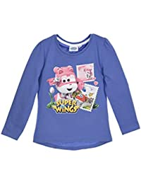Super Wings - Camiseta de Manga Larga - para niña