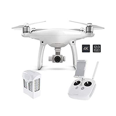 DJI Phantom 4 Ready To Fly 4K UHD Camera Drone With 3 Axis Gimbal, Smart GPS Flight Modes, Return To Home, Object Tracking & Collision Avoidance