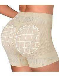 b500591f1e277 SAYFUT Women s Butt Lifter Shapewear Boyshorts Padded Seamless Panty Hip  Enhancer Breathable Po Push Up Bottom