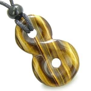 Infinity Pouvoirs magiques Noeud Lucky Charm Collier Pendentif Amulette Protection œil de tigre
