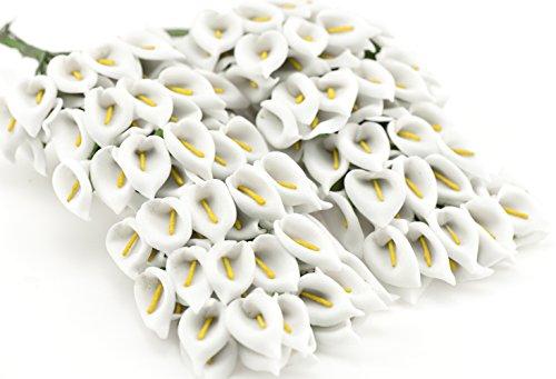 fiveseasonstuffr-144-piezas-miniatura-lirios-cala-de-papel-flores-artificiales-perfecto-para-novia-d
