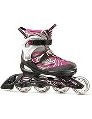 Fila J-One Inliner - Patines en línea infantiles, niña, Kids-Inline-Skates J-One, Black/Grey/Pink