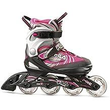 Fila Skates J-One B/G/P Patines en Línea, Niñas, Negro / Gris / Rosa, S