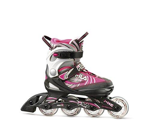 Fila Mädchen Kids-Inline-Skates J-One Black/Grey/Pink, S: EU 28-29-30-31-32 (Skate Inline Für Mädchen)