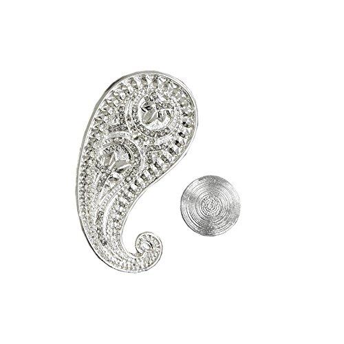 Brosche Glücksbringer Schal Bekleidung Handtasche Magnet Schalclip Höhe 4,5cm Breite 4,0cm (Tiffany Schal)
