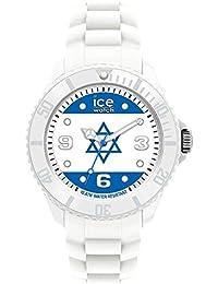ICE-Watch - Montre Mixte - Quartz Analogique - Ice-World - Israel - Big - Cadran Multicolore - Bracelet Silicone Blanc - WO.IS.B.S.12