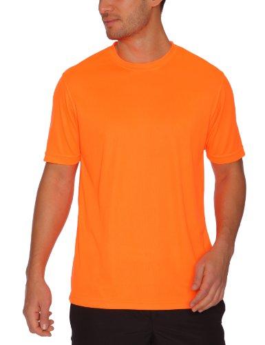 Coole-Fun-T-Shirts Herren NEON T-Shirt floureszierend Neonorange, L