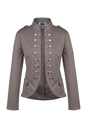 4tuality Massimo Military Blazer braun slim fit, Gr.M