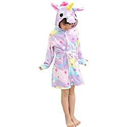 Z-Chen Bata para niños - Forma de Unicornio, Estrella, 7-8 Años, (Tamaño de Manufactura 125/140)