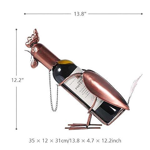 Vin Cabinet,Metal Coq décoration pour décoration d'Anniversaire Noël Cadeau de Thanksgiving 35*12*31cm