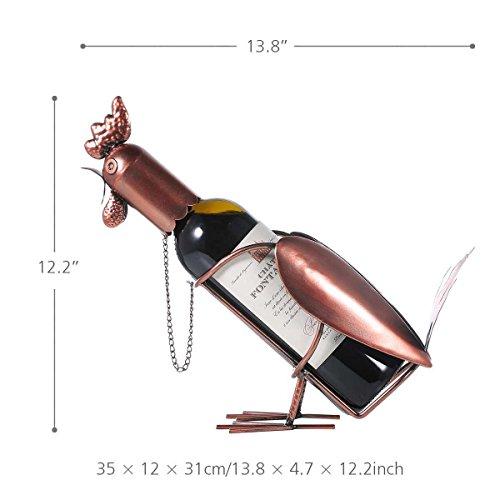 Weinzahnstangen Cabinet, Metall Deko Hahn für Home Decor Weihnachten Geburtstag Danksagung Geschenk 35 * 12 * 31 cm